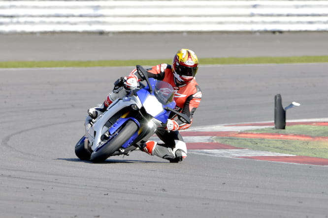 Bike Social's Marc Potter on an R1 at Silverstone last year