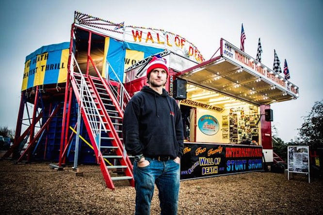 Guy Martin broke the Wall of Death record this evening