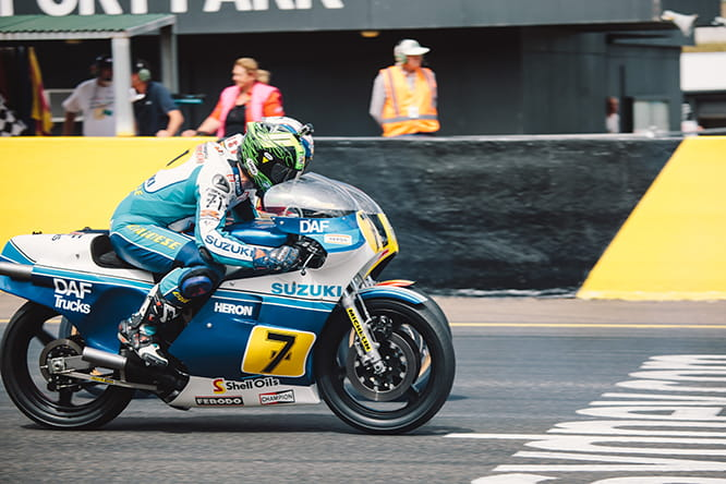 MotoGP winner, Chris Vermeullen on the Heron Suzuki