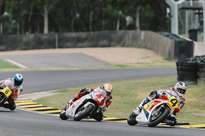 (l-r) Steve Parrish, Jeremy McWilliams and Freddie Spencer