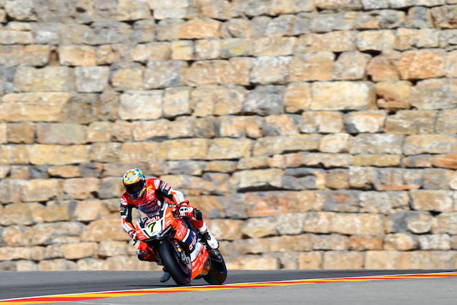 Davies won race one in Aragon