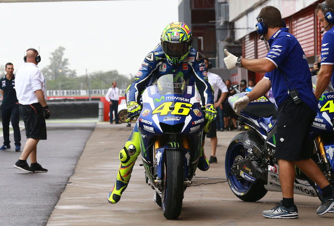 The second bike didn't work out for Rossi
