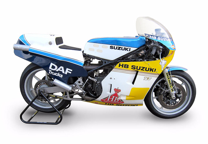 Sheene's '83 Heron Suzuki is up for auction at Bonhams