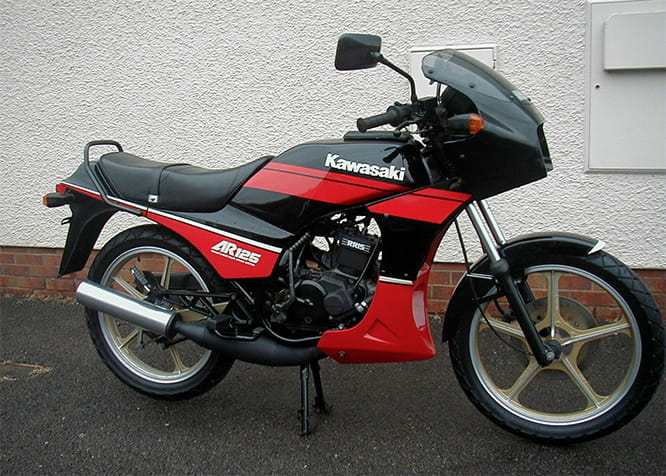 The AR125 was pretty nippy but Kawasaki never really cashed in on the 125 market in the 80s