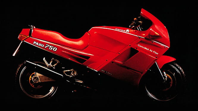 The Ducati Paso - so called in honour of an Italian racer who died at Monza