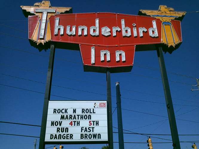 Thunderbird Inn in South Carolina, the inspiration behind the Triumph model's name