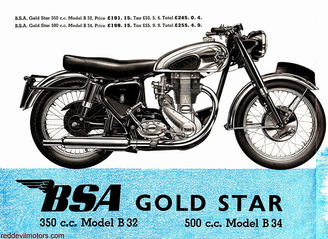 The Blue Star became the Gold Star when fitted with top components to lap Brooklands at over 100mph