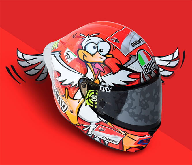 The Australian seagull is remembered on Iannone's AGV