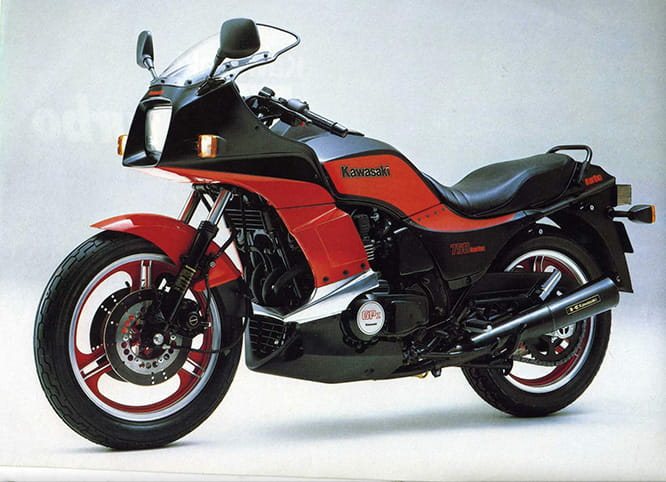 Unveiled in 1984, the GPz750T was arguably the best of the Japanese turbo charged bikes