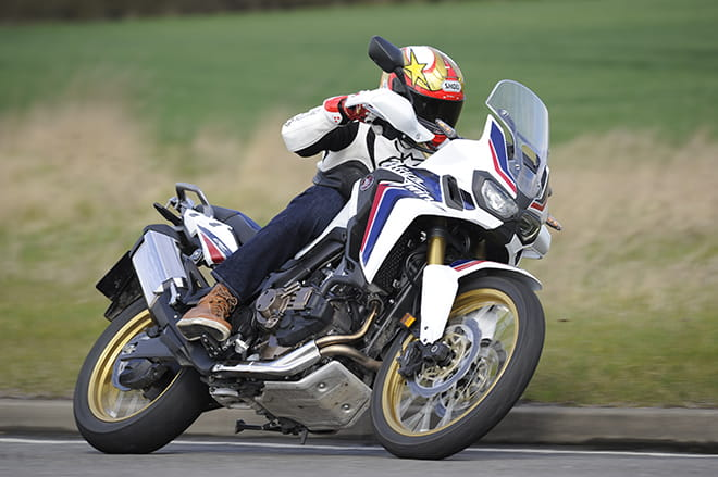 The Africa Twin is a fantastic all-rounder. It can do this, or tour, or go off-road.