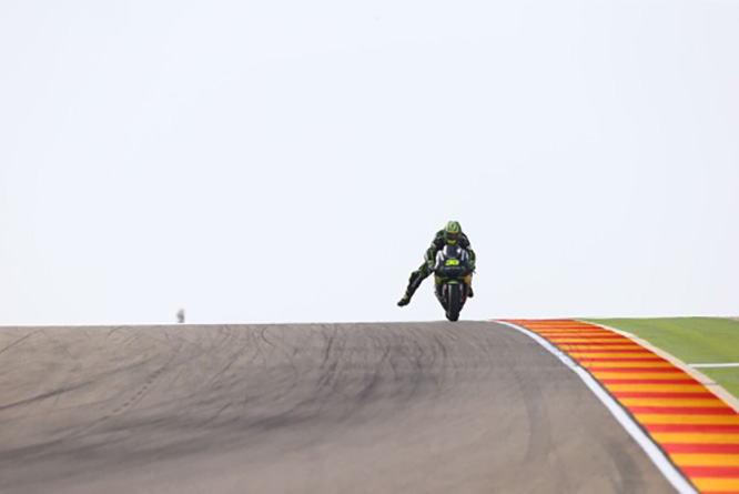 Britain's Cal Crutchlow has adapted his riding style accordingly