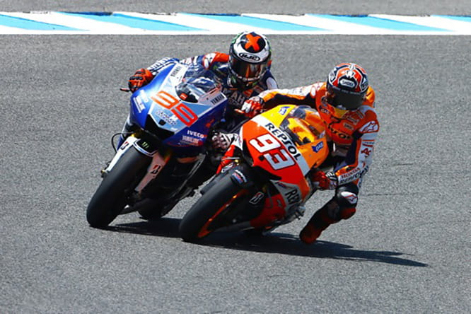 Jorge Lorenzo doesn't but Marc Marquez does