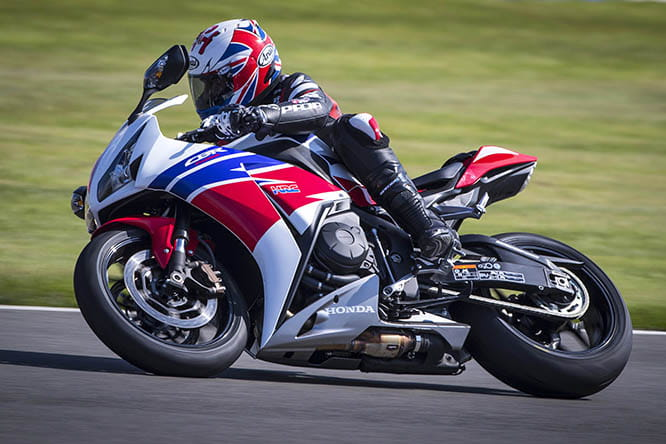 'Rocket' Ron Haslam uses the existing Honda Fireblades at his race school