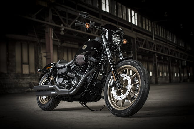 Harley-Davidson's Low-Rider S in its mean and moody natural surroundings.
