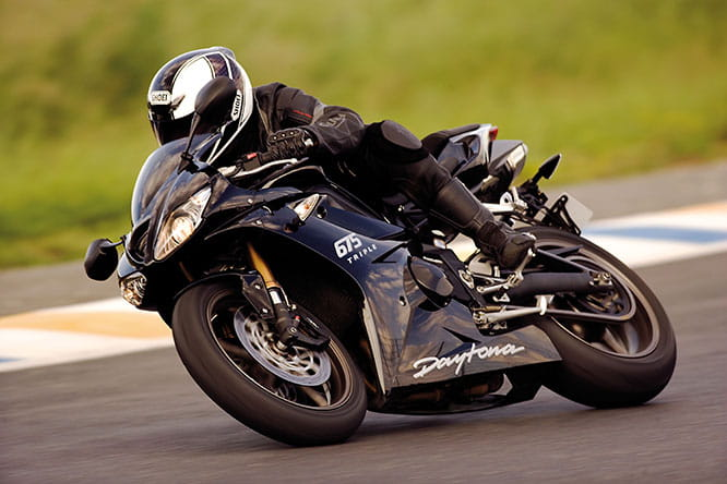2009 Daytona 675 excelled on track