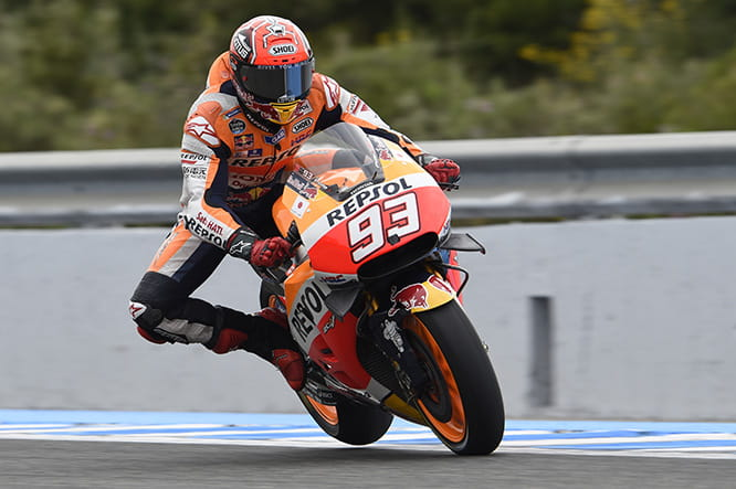 Marc Marquez - making up time on the brakes