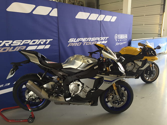 That's an R1M and an anniversary colour Yamaha R1.