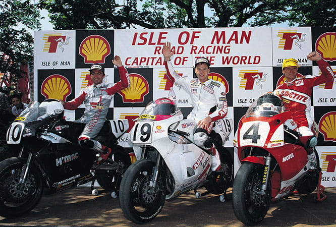 1992 Isle of Man Senior TT podium