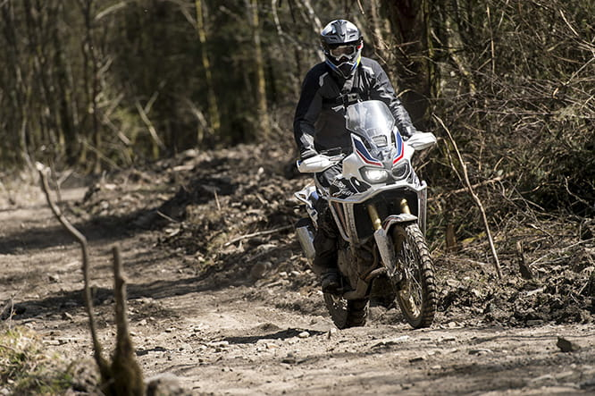 The light clutch, 94bhp and long suspension travel are a ideal combination to cover the Welsh trails