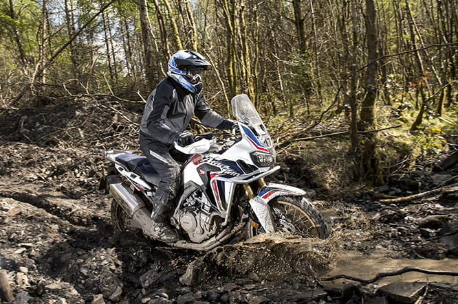 The deepest, most scary rut of the two day Adventure Centre course was no problem for the Africa Twin