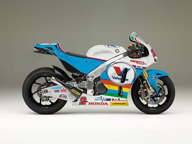 The striking Honda RC213V-S to be raced by Bruce Anstey at the Isle of Man TT this year