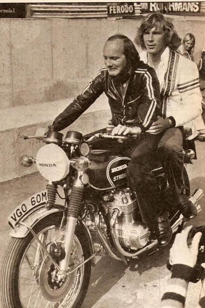 He wasn't called 'Mike the Bike' for nothing. Pictured here with 'Hunt the Shunt'