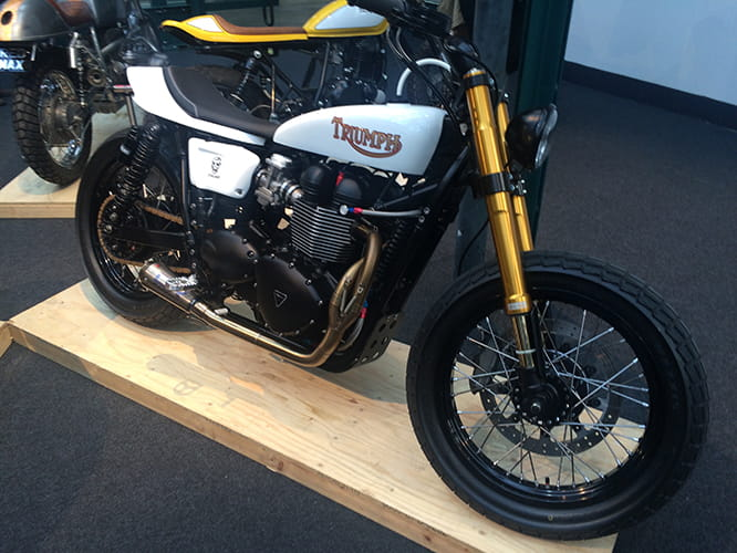 Dirt-tracked Triumph complete with Ohlins forks