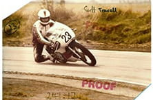 Knox founder Geoff Travell in his racing days.