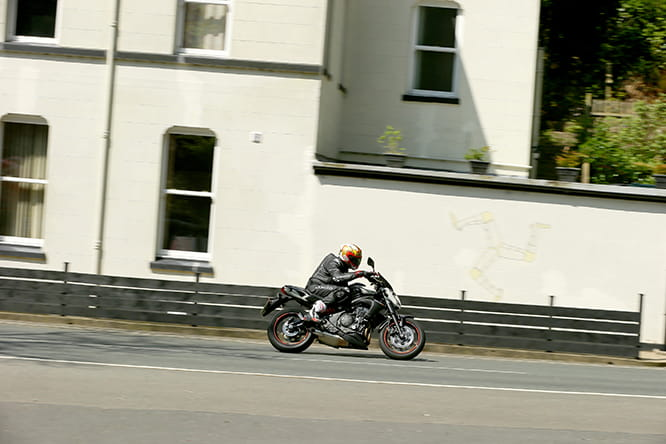 Potter on the Kwaker at Glen Helen on the Isle of Man TT Mountain Course