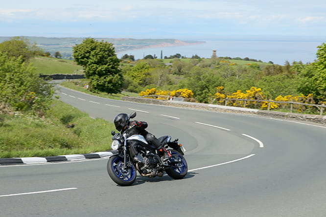 Bike Social's Mann begins the Mountain section at the Gooseneck