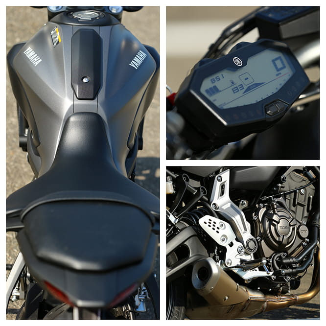 Yamaha MT-07 in detail