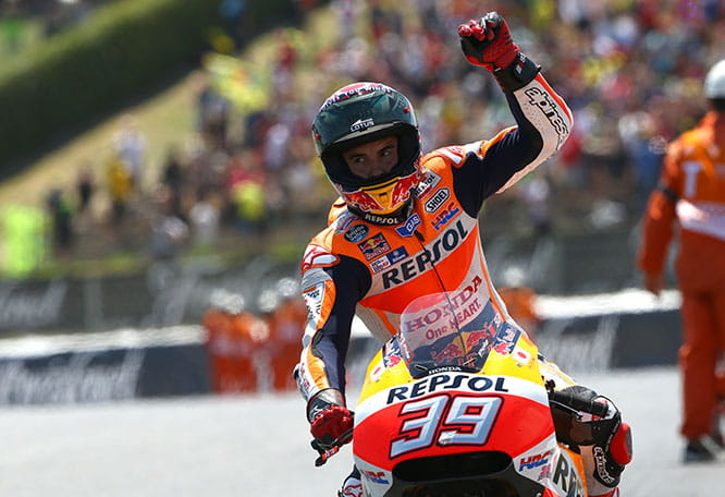 Marquez pays tribute to Luis Salom with the number 39 on his Honda