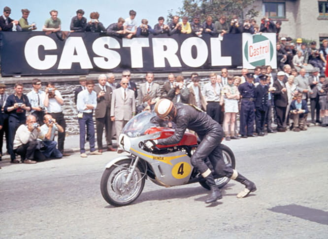 Hailwood beat Agostini when the Italians' chain broke on the last lap