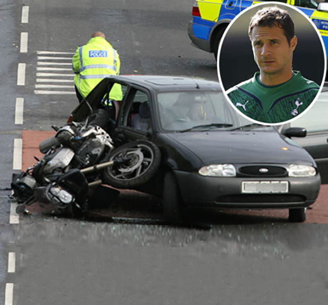 Cudicini broke his wrist and pelvis in this accident in 2009