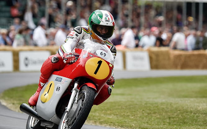 Agostini on his MV Agusta. Photo credit: Daily Telegraph