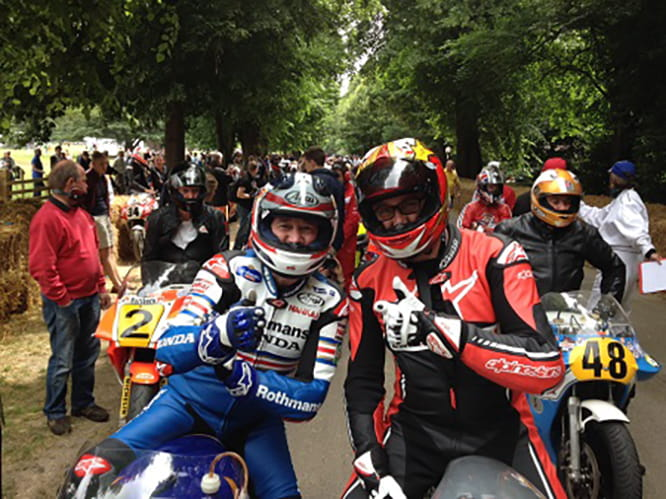 'Fast Freddie' Spencer and 'Trying to be Fast' Marc Potter