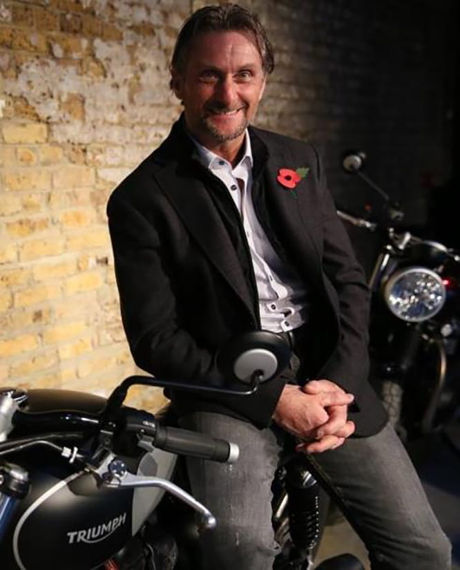 Carl Fogarty will ride a couple of Triumphs
