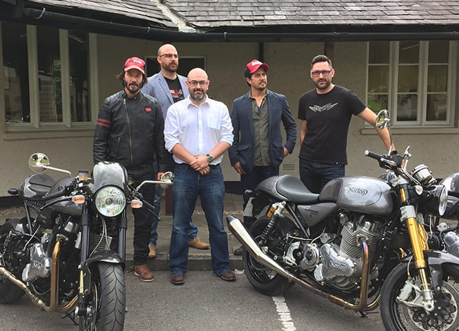 The Arch Motorcycle crew, our man Marc Potter and Norton's Skinner