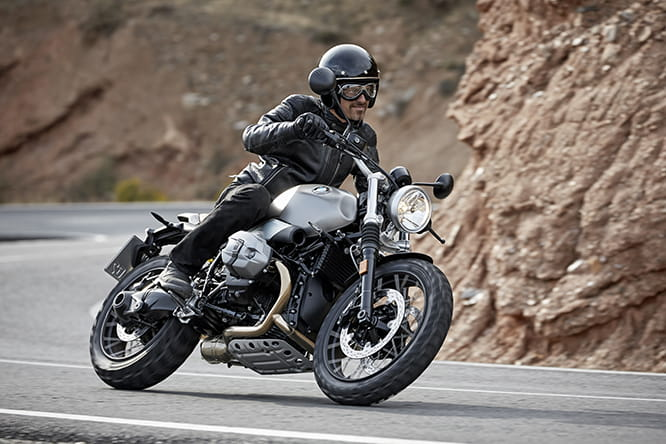 R nineT Scrambler X - the spoke wheels give it away