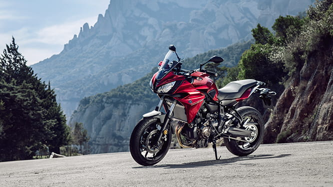 Yamaha Tracer 700 in one of its three available colours - Radical Red