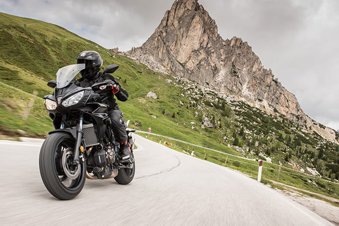 Striking scenery, fabulous bike. The Tracer 700 seemed at home around the mountain roads