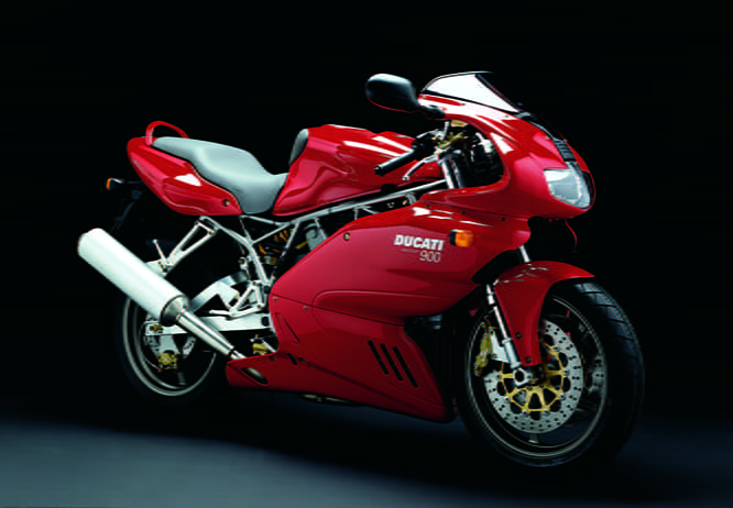 Ducati 900 Suoersport (one word now) designed by Pierre Terblanche