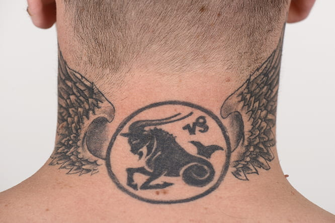 Redding's Capricorn symbal with wings