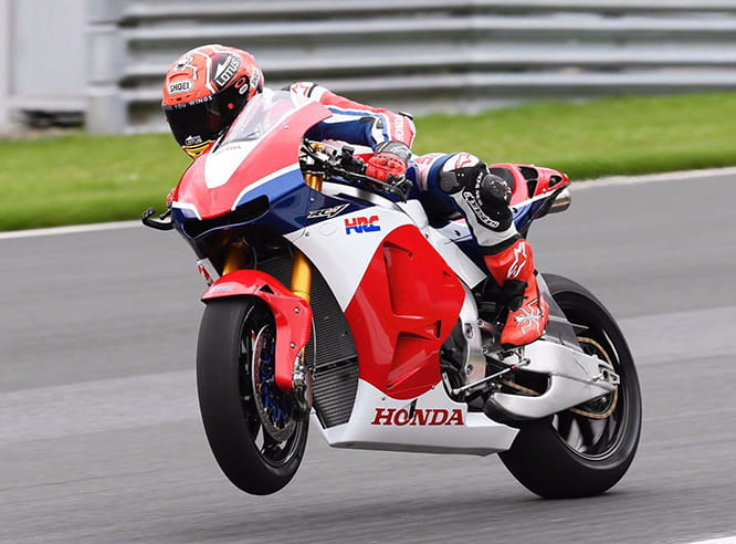 Marc Marquez spanks the Honda RC213V-S around the Red Bull Ring