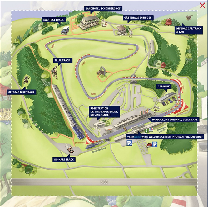 The Red Bull Ring circuit in Austria. Image supplied by the official circuit website