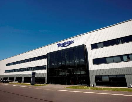Triumph's HQ and UK-based factory in Hinckley. Photo: Impact Images/Tim Keeton