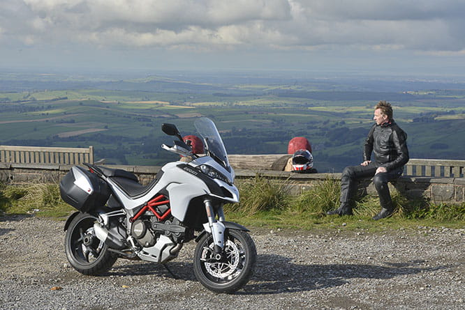 1900 feet up at the Hartside Cafe - the views are spectacular
