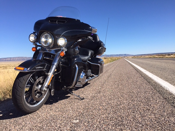 Route 66. A Harley-Davidson Electra-Glide Ultra and sunshine. Does it get much better?