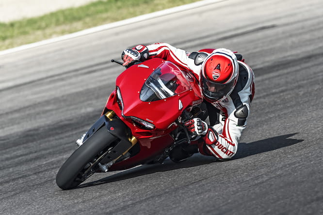 The test rider lapped just 4 seconds off Troy Bayliss' Superbike time