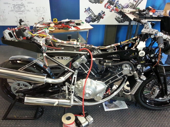 First Brough Superior SS100 on the production line